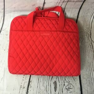 Vera Bradley red quilted travel cosmetic bag NWT